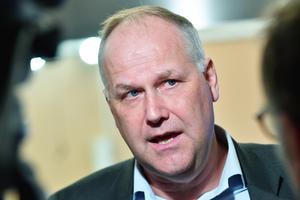 Vänsterpartiets partiledare Jonas Sjöstedt (V). Arkivbild.