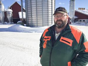 Erik Jonsson, LRF, fanns på plats för att stötta familjen.