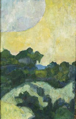 Gotländskt landskap målat av Ivan Aguéli 1891. Foto: Aguélimuseet
