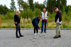 Boule arrangeras ofta av pensionärsorganisationer som här på Morbyvallen i Gustafs.