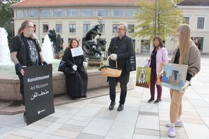 Konstmuseet i Skövde när de visade upp sig på stan. Under hösten väntar fyra nya utställningar och en lång rad aktiviteter.
