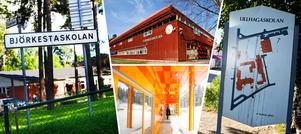 Nykvarns fyra grundskolor: Björkestaskolan, Turingeskolan, Furuborgskolan och Lillhagaskolan.