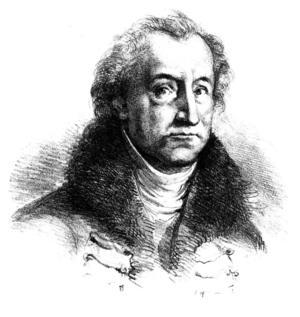 Johann Wolfgang von Goethe.   Illustration: Clipart