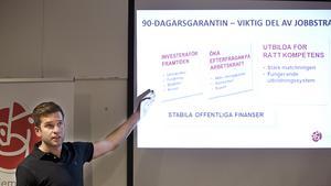 SSU-ordföranden Gabriel Wikström höjde valtemperaturen, både i hemstaden Västerås och i hela Sverige.