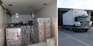 Sprit som kostar en och en halv miljon kronor på Systembolaget lastades in i en lastbil från spritlagret på Bistagatan.