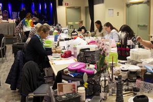 Omkring femtio deltagare var med på den tre dagar långa scrapträffen, som för första gången hölls i Kulturhuset.