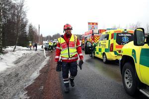 Enligt räddningsledare Peter Bäcke, Mora brandkår var olycksorsaken okänd.