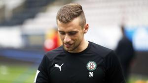 Filip Rogic befaras ha drabbats av en lindrig hjärnskakning och ÖSK-mittfältaren har träningsförbud riskerar att missa den avgörande cupmatchen mot IFK Göteborg.