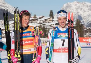 Calle Halfvarsson blev trea i lördagens sprint.