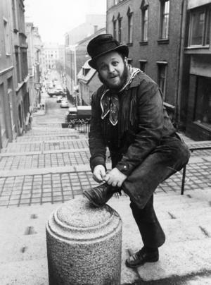 Sid Jansson som trubadur och vissångare 1971. Foto: Reportagebild/Scanpix/TT