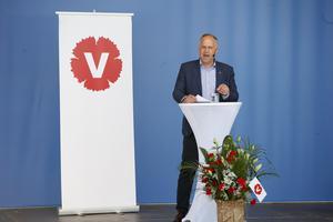 Jonas Sjöstedt drömmer om att bli en svensk Bernie Sanders. Foto: Fredrik Persson/TT