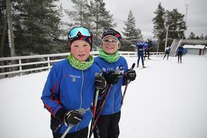 Bland de yngsta i spåret var Erik Tingelöf, till vänster, och William Ribbefors.