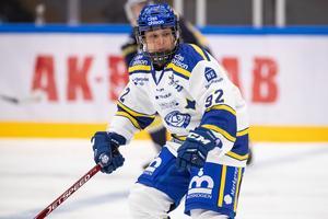 Betty Jouanny gjorde två mål och var starkt bidragande till att Leksands IF:s damer kunde ta första trepoängaren för säsongen. Foto: Bildbyrån.