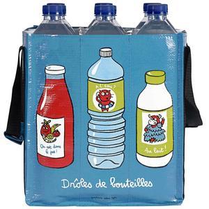 Aqva. Blå PVC-väska för flasktransport, finns på Bluebox. Rymmer upp till 1,5-liters PET-flaskor. Pris: 99 kronor.Foto:Bluebox