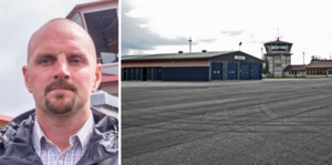Mathias Viberg är chef för flygplatsen i Härjedalen. Där måste belysningen bytas ut.