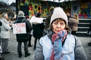 Maria Stjärnalv är aktiv i gruppen Stoppa 5G i Sundsvall och låg bakom manifestationen som var en del i en global protestdag.