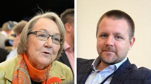 Marit Paulsen (L) och Fredrick Federley (C). Foto: Bertil Ericson/TT och Anna Karolina Eriksson/TT