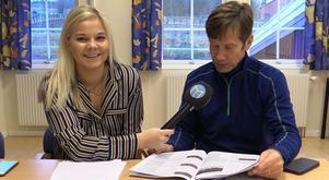 Sanna Svanebo och Bosse Eklöf under inspelningen av förra veckans succésurr.