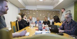 I Närljus lokaler hade företagarna samlats för att lära sig om vad digitalisering är och diskutera fram vad det skulle kunna göra för deras företag.