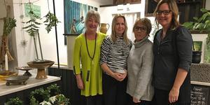 Konsthantverkskvartetten bakom Spira: fr v Telda Jonsson, Elaine West, Kristina Morén och Bäck Maria Olsson.