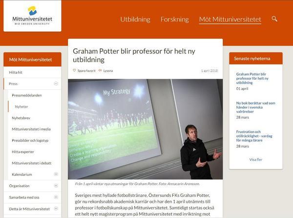 Harry Potter har oväntat gjort en akademisk snabbkarriär, enligt Mittuniversitetet...