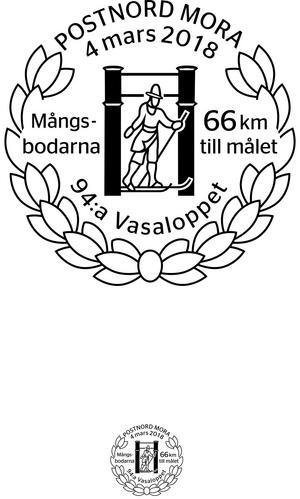 Vasaloppets minnespoststämpel  uppmärksammar i år Mångsbodarna.