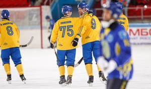 Sverige är finalklart. Foto: Rikard Bäckman / Bandypuls.se / TT