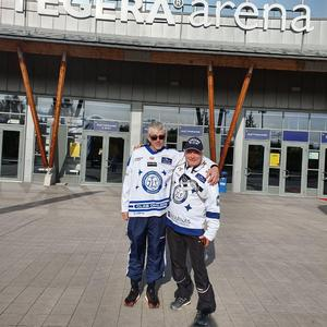 Bernt Lindgren och Roger Magnusson kom fram till Leksand klockan 15.15. Promenaden startade klockan 05.00.