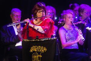 Lotta Johansson spelade solo på sin tvärflöjt under Einsamer hirte.