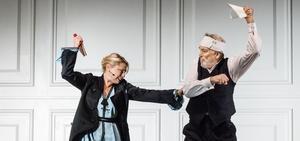 Nora (Helena Bergström) och Torvald (Philip Sandén) i Ett Dockhem 2. Bild: Sören Vilks