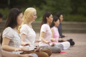 Falun Gong-utövare mediterar. Foto: faluninfo.net med tillstånd