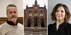 Skaras kommundirektör Gustaf Olsson och HR-chefen Erica Boegård ser en positiv trend i kommunmedarbetarnas syn på arbetsgivaren Skara kommun.