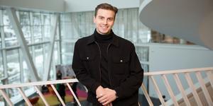 Tommie Lögdahl från Ånge kom på en tredje plats i tävlingen Swedbank rivstart med sin uppfinning Nowa drops. Bild: Jens Reiterer