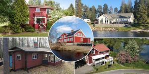 Ett montage med några av de dalaobjekt som finns med på Klicktoppen för vecka 16 och alltså fått flest klick på bostadssajten Hemnet under förra veckan. Fler bilder finns här nedanför.