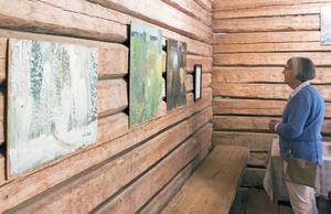 På logen visades konst av Torsten Dahl.