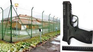 En pistolreplika kom in på Saltvik och en anställd utsattes för en skenavrättning. Pistolen på bilden är inte den som hittades på anstalten.