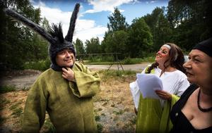 Hantverkaren Botten,som olyckligt nog blir förvandlad till en åsna, spelas av Jörgen Wallin.