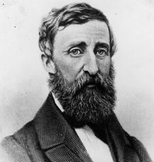 Henry David Thoreau 1861. Porträtt av konstnären Geo. F. Parlow.
