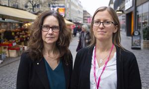 Maria Sundman och Lina Hedman gör regionens jämlikhetsutredning.