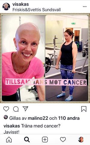 Januari 2019 Här berättar Victoria att hon och Helena arrangerar ett pass för att samla in pengar till Cancerfonden och för att uppmärksamma forskningen om att träning under behandling har visat positiva effekter.