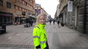– Under ombyggnaden kommer vi att stänga av tvärgatorna. Men en i varje riktning kommer alltid att vara öppen, säger Maria  Dahlgren, projektledare.