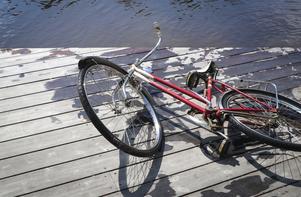 Den röda cykeln blev dagens höjdpunkt.
