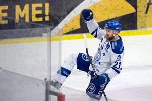 Mattias Ritola var mycket bra i Leksand som besegrade Modo för tredje gången i vinter. Han hade bra lir med nyförvärven från Tyskland. Foto: Bildbyrån