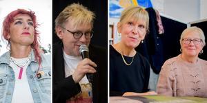 Fyra författare på bokmässan i Bollnäs på lördag: Anna Jörgensdotter, Anders Jacobsson.
