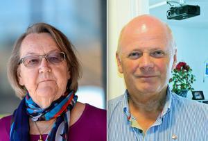 Marit Paulsen och Kurt Podgorski hör till Malung-Sälens högst avlönade. Foto: Per Larsson/TT och Anders Mojanis
