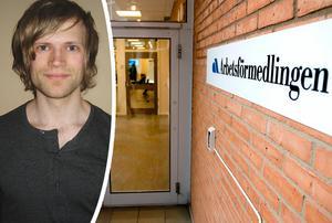 Arbetsförmedlaren Johan Berg menar att Arbetsförmedlingen har oförtjänt dåligt rykte. Bild: Privat / Leif Johansson