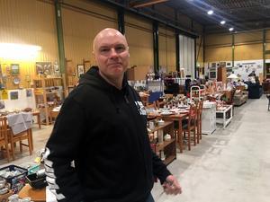 Pär Kindlund har varit ansvarig för verksamheten sedan starten  av verksamheten vid kommunens AME-butik.