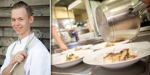 Jonathan Hammar från Bollnäs tävlar i kocktävlingen Smakkampen som avgörs måndagen den 21 oktober i Gasklockorna i Gävle.