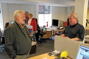Leif fanns med och pekade ut riktningen för Hall Medias tidningar i Skaraborg.