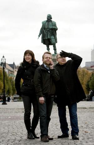Stadslivsredaktionen, Christina Eriksson, Anders Erkman och Lars-Göran Månzon.Arkivbild